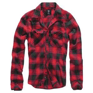Brandit Check Hemd Rot Schwarz