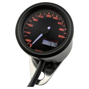 Daytona Velona48 Tachometer 200 km-h schwarz Corporation