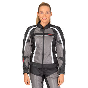 Fastway Hot Season Damen Textiljacke Schwarz Grau FASTWAY