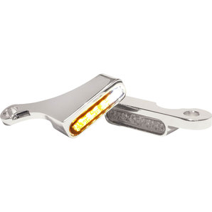 Heinzbikes LED Armaturen Blinker Chrom mit Positionslicht HeinzBikes