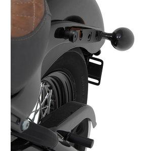 Legend Gear Seitenträger für Harley-Davidson Softail- schwarz SW-Motech