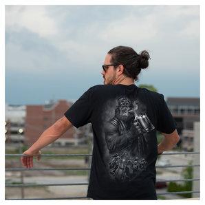 Lethal Threat Gorilla Beer T-Shirt Schwarz