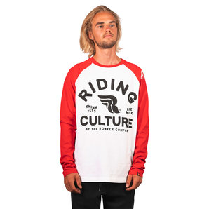 Riding Culture Ride More Langarmshirt Weiss Rot