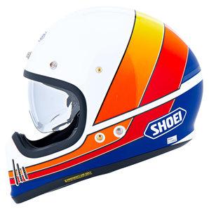 Shoei Ex-Zero Integralhelm Weiss Orange Blau Rot