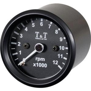 TundT elektronischer Drehzahlmesser 48mm- LED-Beleuchtung Tumbleton and Twist