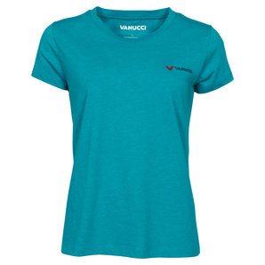 Vanucci Logo-Tee Damen T-Shirt Türkis