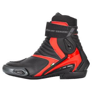 Vanucci VSB-2 Stiefel Schwarz Rot